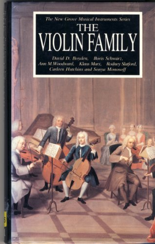9780333444511: Violin Family (The New Grove musical instruments series)