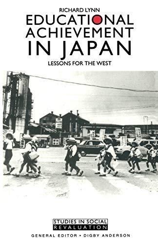9780333445327: Educational Achievement in Japan (Studies in Social Revaluation)