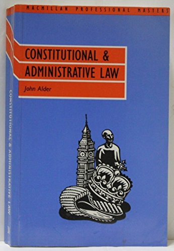 9780333446539: Constitutional and Administrative Law (Palgrave law masters)