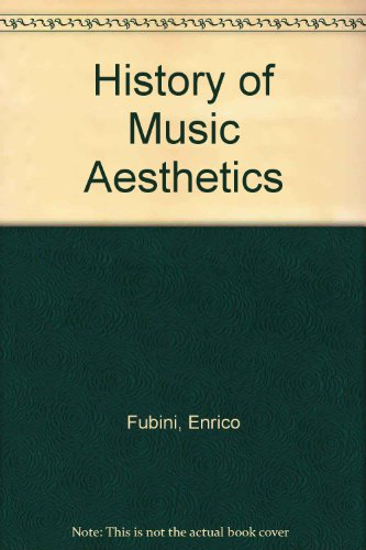 9780333446652: History of Music Aesthetics