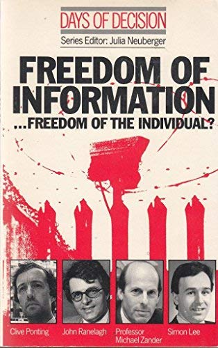 9780333447710: Days of Decision: Freedom of Information