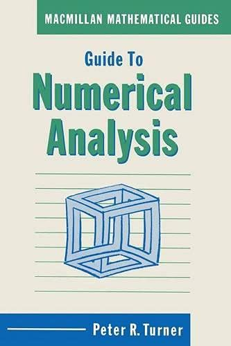 9780333449479: Guide to Numerical Analysis (Mathematical Guides)
