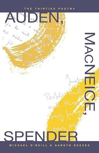 9780333451175: Auden, MacNeice, Spender: The Thirties Poetry
