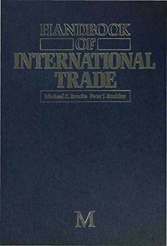 Handbook of International Trade (Hardback): Michael Z. Brooke, Peter J. Buckley