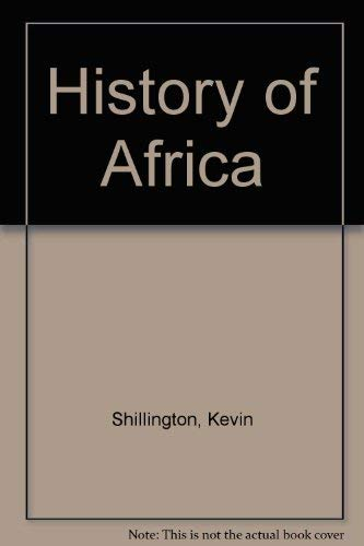 9780333454077: History of Africa
