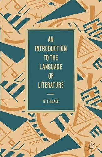 9780333454107: Introduction to the Language of Literature