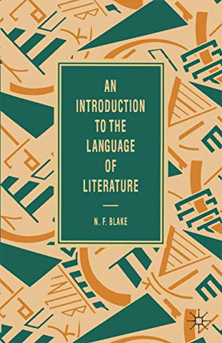 9780333454114: An Introduction to the Language of Literature