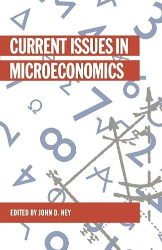 9780333454725: Current Issues in Microeconomics (Current issues in economics)