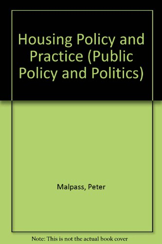 9780333455067: Housing Policy and Practice (Public Policy and Politics)
