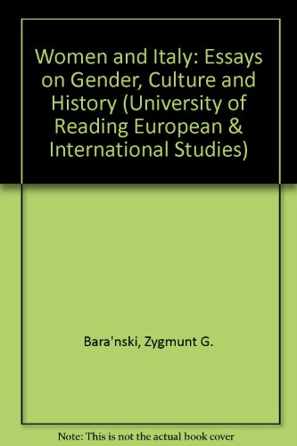 9780333455760: Women and Italy: Essays on Gender, Culture and History (University of Reading European & International Studies)