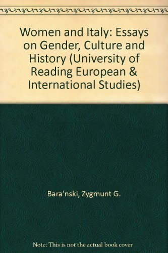 9780333455777: Women and Italy: Essays on Gender, Culture and History (University of Reading European & International Studies)