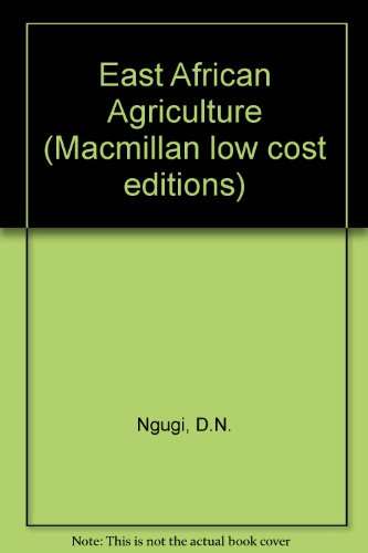9780333458372: East African Agriculture (Macmillan low cost editions)