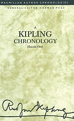 9780333459157: A Kipling Chronology (Author Chronologies)