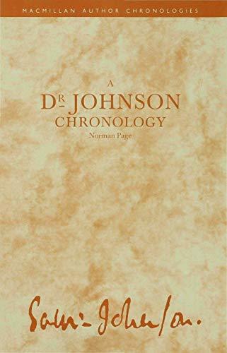 9780333459164: A Dr Johnson Chronology (Author Chronologies Series)