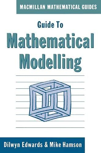 9780333459355: Guide to Mathematical Modelling (Mathematical Guides)