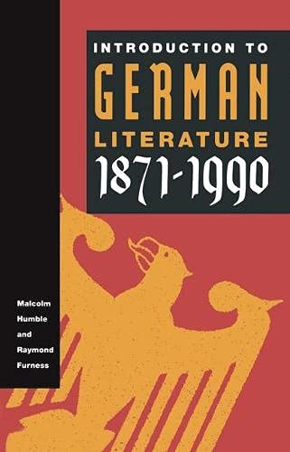 9780333460368: Introduction to German Literature, 1871-1990