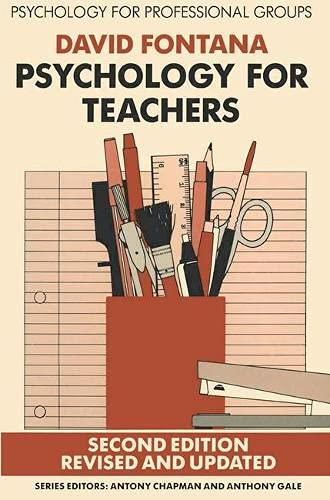 9780333461259: Psychology for Teachers (Psychology for professional groups)