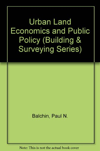 9780333463772: Urban Land Economics and Public Policy (Building & Surveying Series)