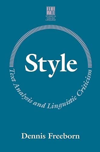 9780333468760: Style: Text Analysis and Linguistic Criticism (Studies in English Language)