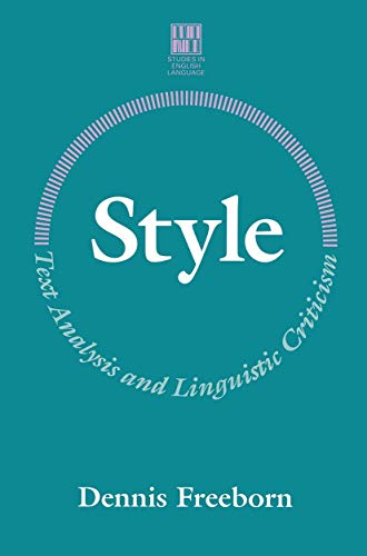 9780333468777: Style: Text Analysis and Linguistic Criticism (Studies in English Language)