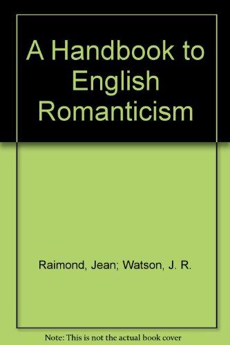9780333469514: A Handbook to English Romanticism