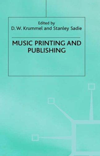 9780333470442: Music, Printing and Publishing (The New Grove handbooks in music)