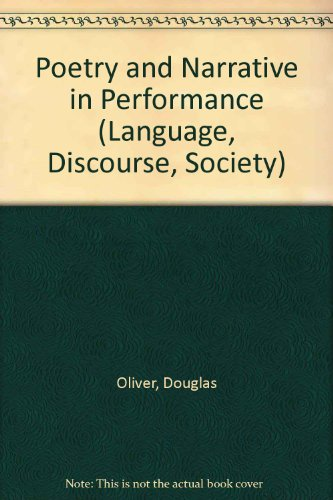 9780333473511: Poetry and Narrative in Performance