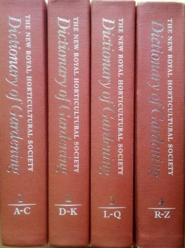 9780333474945: The New Royal Horticultural Society Dictionary of Gardening. 4 Volumes.