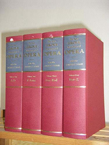 9780333485521: The New Grove Dictionary of Opera