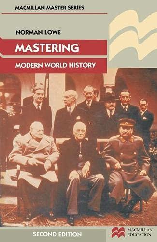 9780333485538: Mastering Modern World History