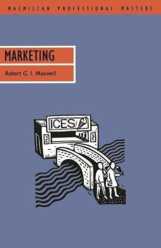 Marketing (Professional Master) - G.I. Maxwell, Robert