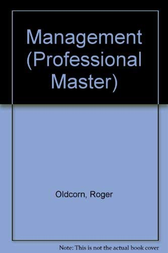 9780333487952: Management (Professional Master)