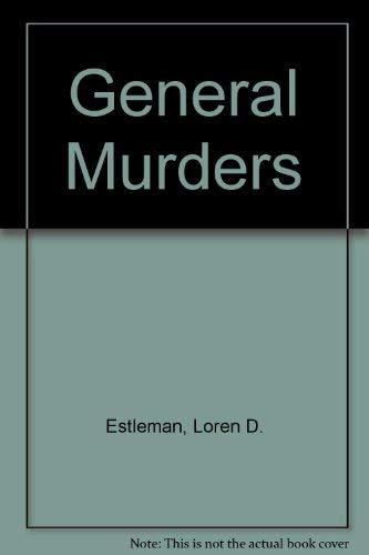 9780333489314: General Murders