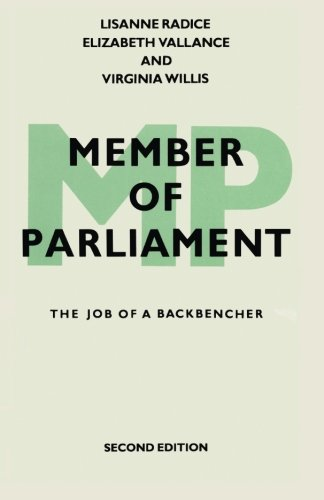 9780333491225: Member of Parliament: The Job of a Backbencher
