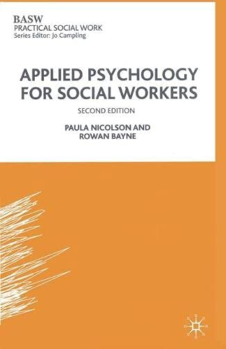 9780333495018: Applied Psychology for Social Workers (British Association of Social Workers (BASW) Practical Social Work)