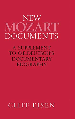 9780333495865: New Mozart Documents: A Supplement to O.e.deutsch s Documentary Biography