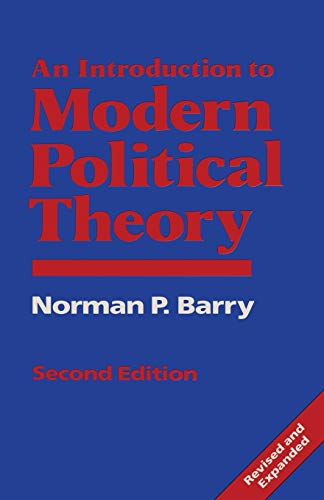 9780333497975: An Introduction to Modern Political Theory