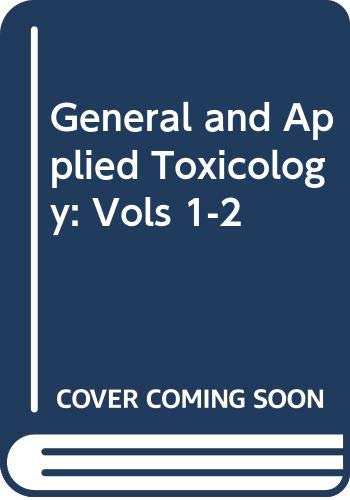 9780333498019: General and Applied Toxicology: Vols 1-2
