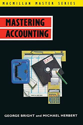 9780333511985: Mastering Accounting (Palgrave Master Series)