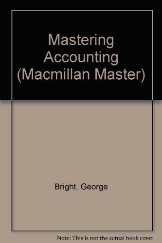 9780333511992: Mastering Accounting (Macmillan Master)