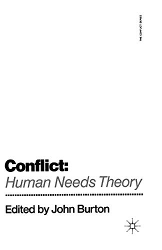 9780333521489: Conflict: Human Needs Theory (The Conflict Series)