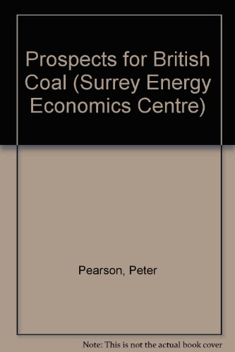 Prospects for British Coal (Surrey Energy Economics Centre) (9780333523612) by Peter Pearson