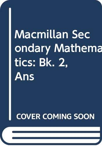 Secondary Maths: Answer Book 2 (Bk. 2) (9780333524695) by Graham Newman; Ken Taylor