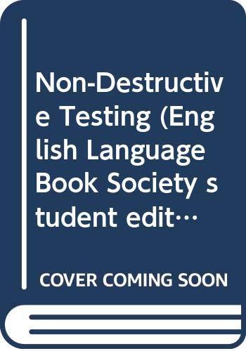 9780333525364: Non-Destructive Testing (English Language Book Society student editions)