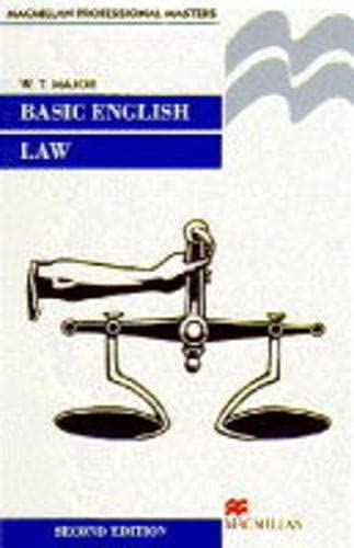 9780333532515: Basic English Law (Palgrave law masters)