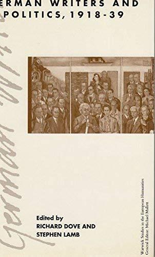 9780333532621: German Writers and Politics, 1918-39 (Warwick Studies in the European Humanities)