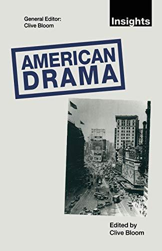 9780333532874: American Drama (Insights)