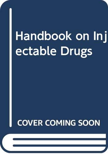 9780333532904: Handbook on Injectable Drugs