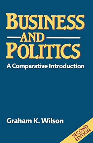 9780333535820: Business and Politics: A comparative introduction