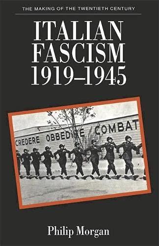 9780333537794: Italian Fascism, 1919-1945 (Making of the Twentieth Century)